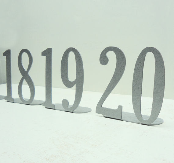 Metal Table Numbers- Double Digit - Knob Creek Metal Arts