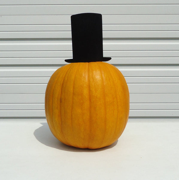 Pumpkin JackOLantern Metal Art Top Hat - Knob Creek Metal Arts
