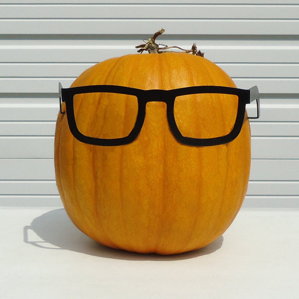 Pumpkin JackOLantern Metal Art Nerd Glasses - Knob Creek Metal Arts