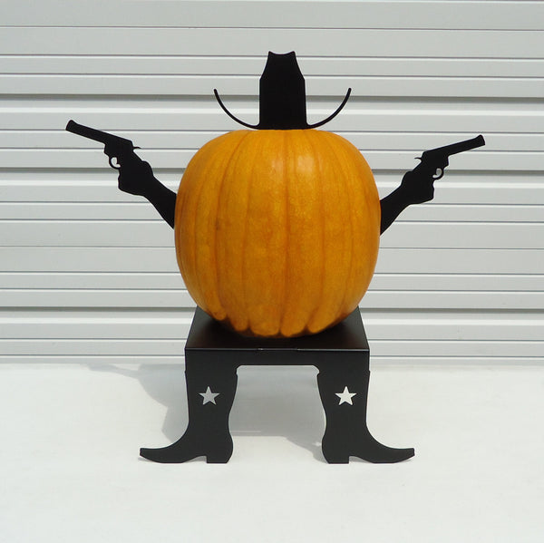 Pumpkin JackOLantern Metal Art Cowboy Kit - Knob Creek Metal Arts