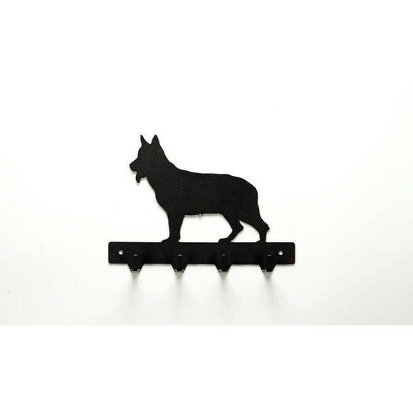 German Shepherd Leash Rack - Knob Creek Metal Arts
