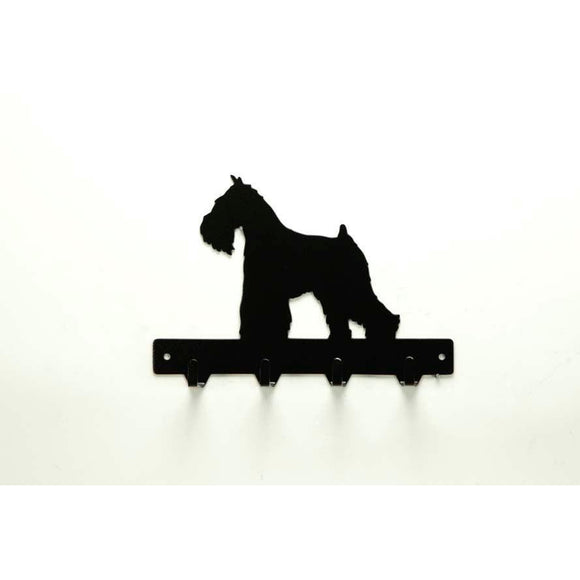 Miniature Schnauzer Leash Rack - Knob Creek Metal Arts