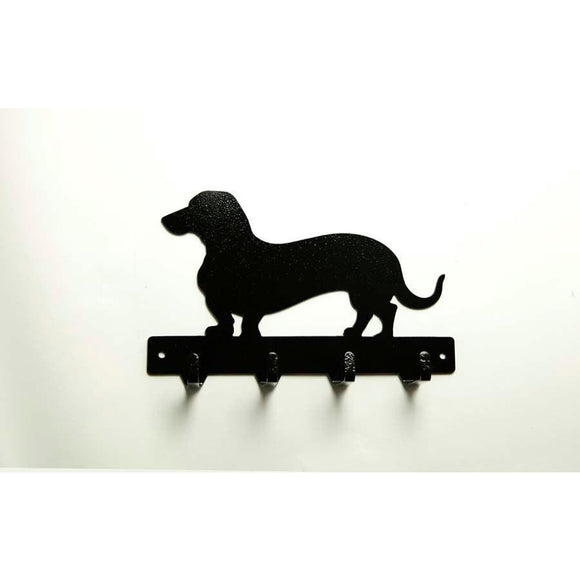 Wiener Dog Dachshund Leash Rack - Knob Creek Metal Arts