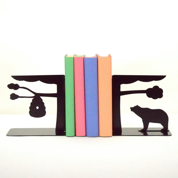 Beehive & Bear Bookends - Knob Creek Metal Arts