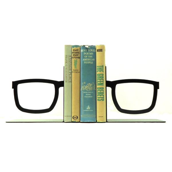 Split Glasses Bookends - Knob Creek Metal Arts