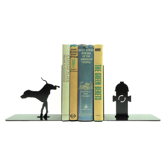 Dog & Fire Hydrant Bookends - Knob Creek Metal Arts