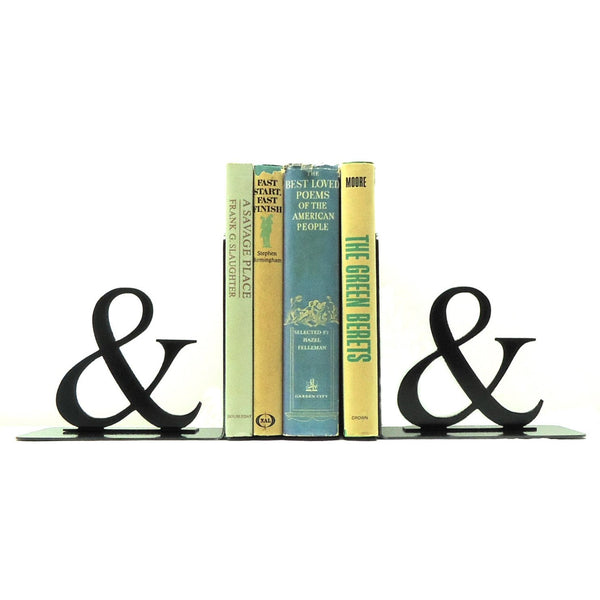 Ampersand Bookends - Knob Creek Metal Arts