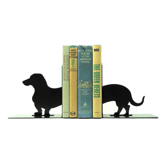 Wiener Dog Dachshund Bookends - Knob Creek Metal Arts