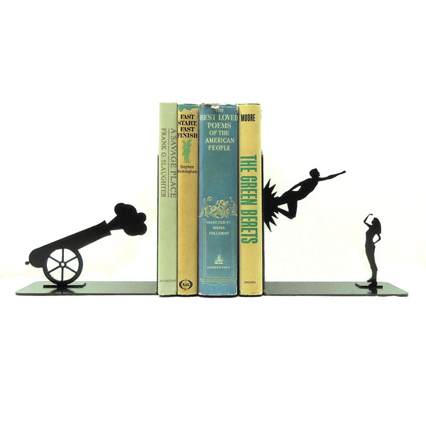 Shot Out of a Cannon Bookends - Knob Creek Metal Arts