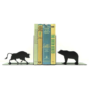 Bull & Bear Bookends - Knob Creek Metal Arts