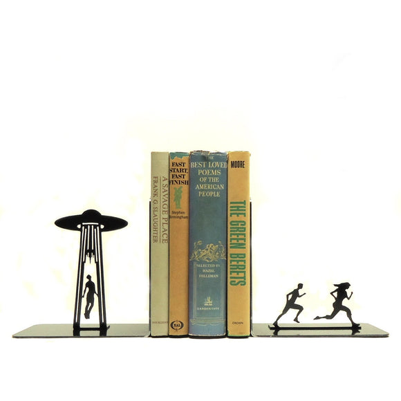 UFO Abduction Bookends - Knob Creek Metal Arts