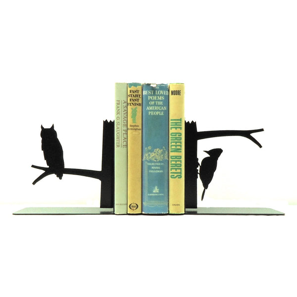 Owl & Woodpecker Bookends - Knob Creek Metal Arts