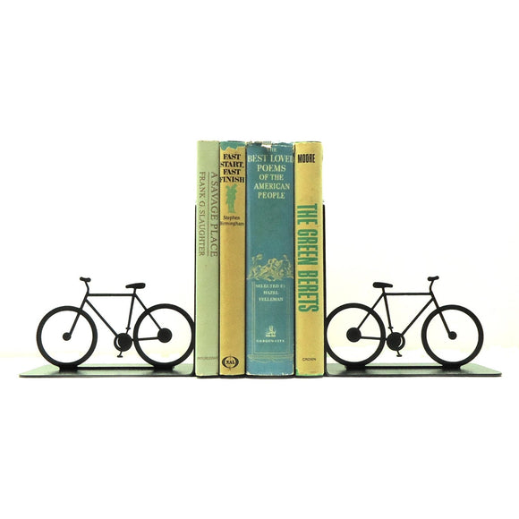 Bicycle Bookends - Knob Creek Metal Arts