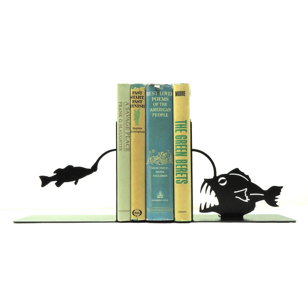 Angler Fish Bookends - Knob Creek Metal Arts