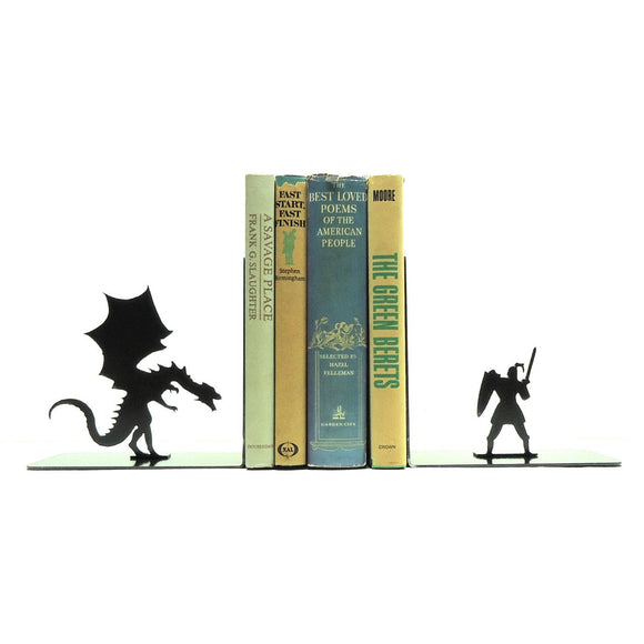 Dragon & Knight Bookends - Knob Creek Metal Arts