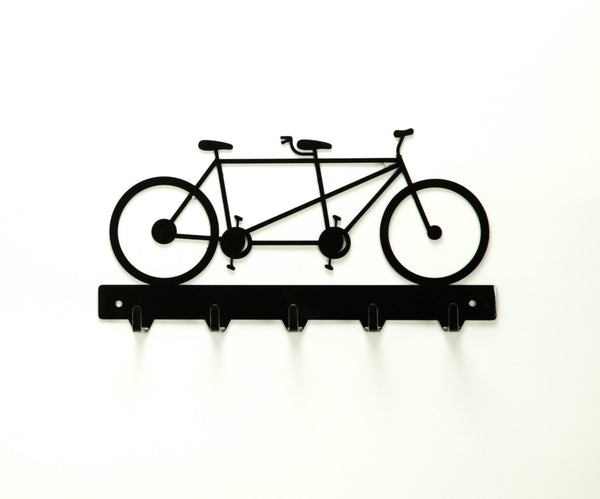 Tandem Bicycle Key Rack - Knob Creek Metal Arts