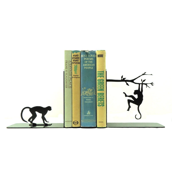 Monkey Bookends - Knob Creek Metal Arts