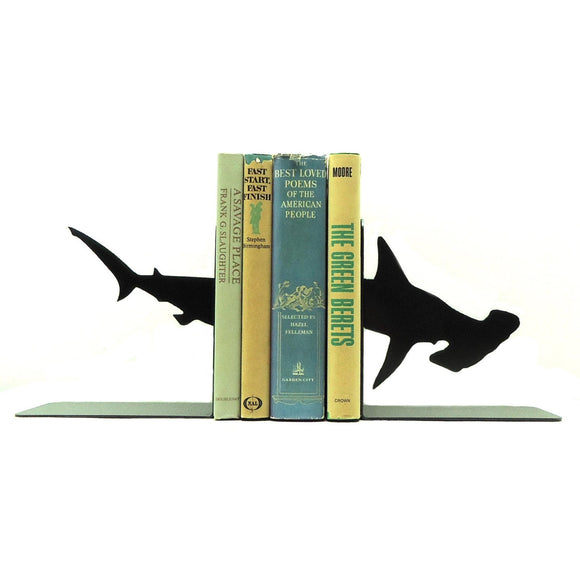 Hammerhead Shark Bookends - Knob Creek Metal Arts