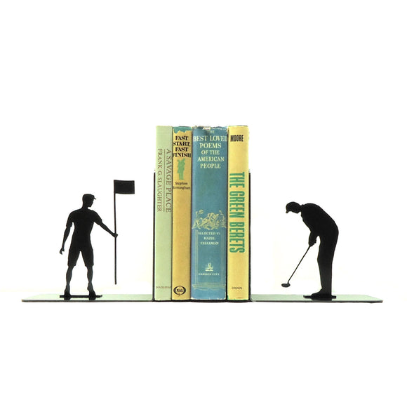 Golfer Bookends - Knob Creek Metal Arts