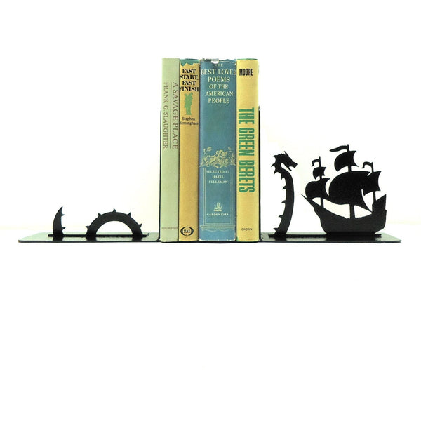 Sea Serpent Bookends - Knob Creek Metal Arts