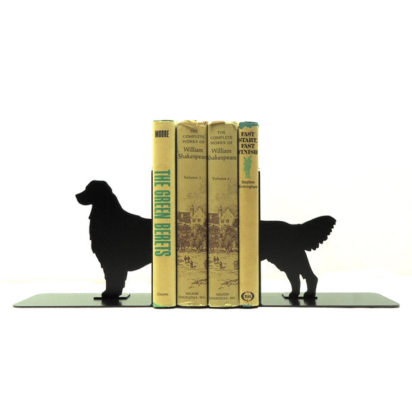 Golden Retriever Bookends - Knob Creek Metal Arts