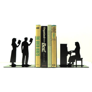 Piano Player Bookends - Knob Creek Metal Arts