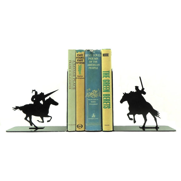 Jousting Knights Bookends - Knob Creek Metal Arts