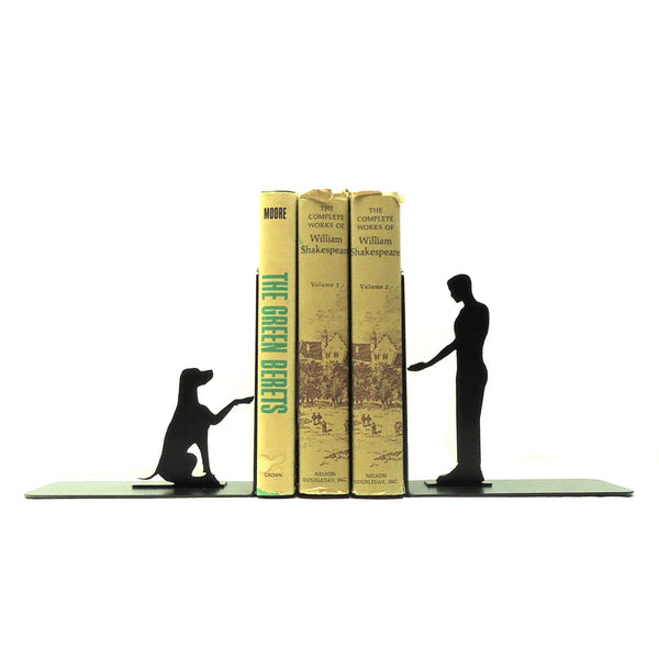 Dog Shake Bookends - Knob Creek Metal Arts