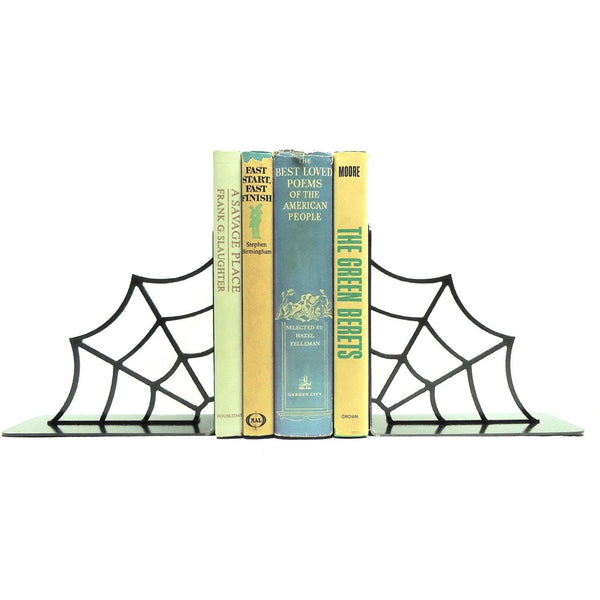 Spiderweb Bookends - Knob Creek Metal Arts