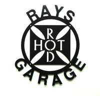 Personalized Hot Rod Garage Sign - Knob Creek Metal Arts