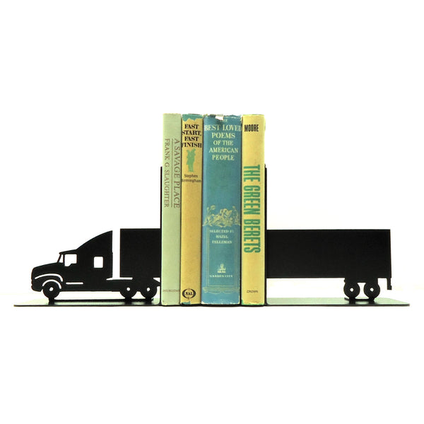Semi Tractor Trailer Bookends - Knob Creek Metal Arts