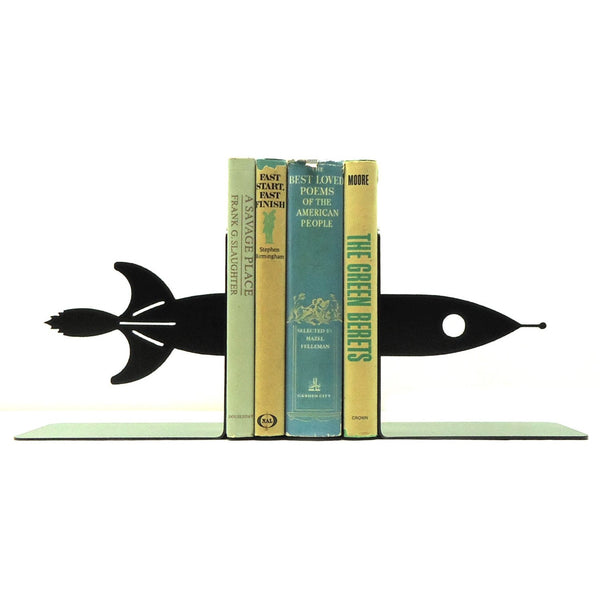 Rocket Ship Bookends - Knob Creek Metal Arts