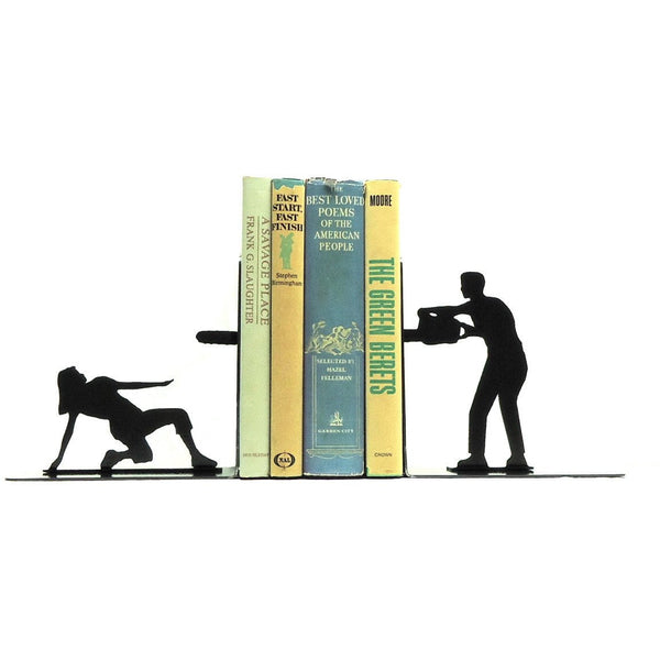 Chainsaw Attack Bookends - Knob Creek Metal Arts