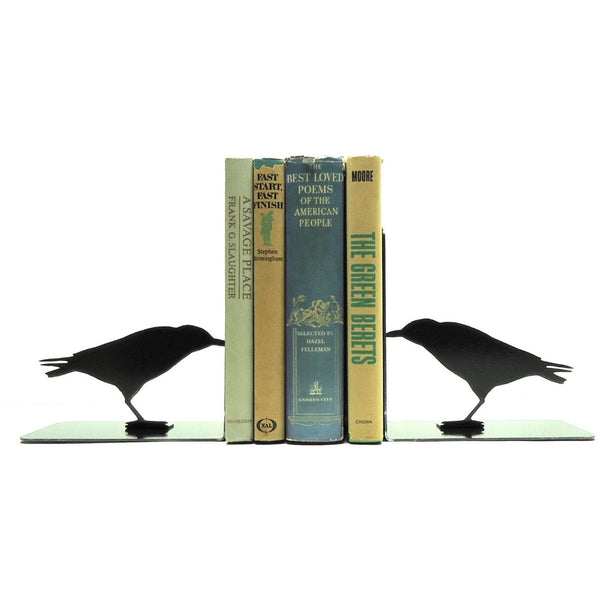 Raven Bookends - Knob Creek Metal Arts