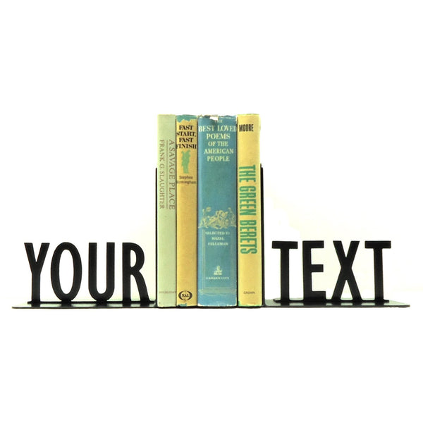 Personalized Text Bookends - Knob Creek Metal Arts