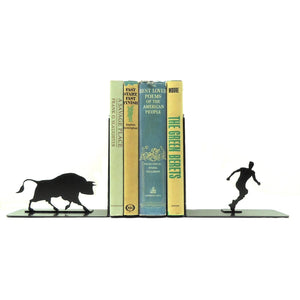 Bull Attack Bookends - Knob Creek Metal Arts