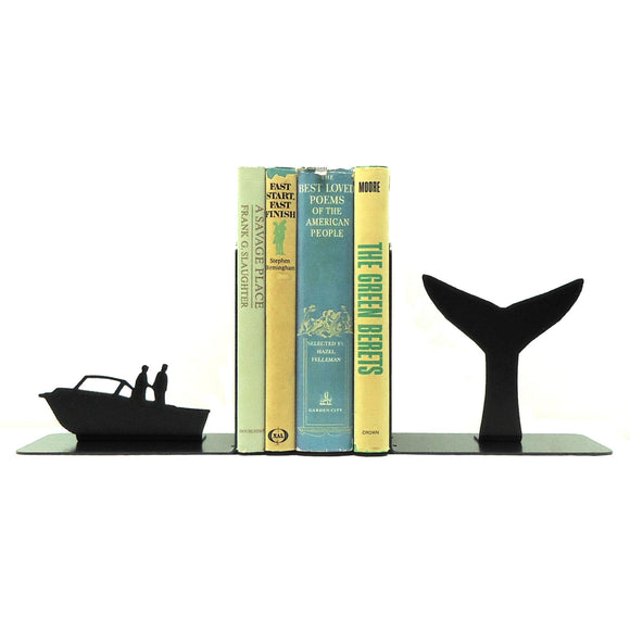 Whale Tail Bookends - Knob Creek Metal Arts