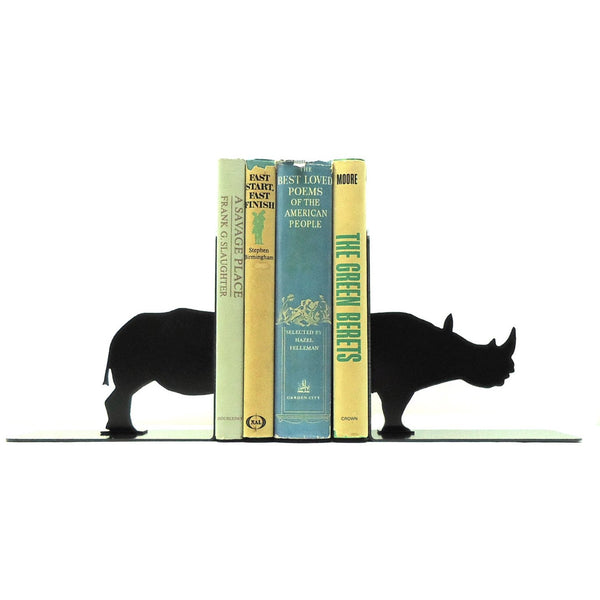 Rhino Bookends - Knob Creek Metal Arts