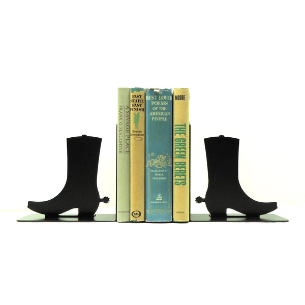 Boots Bookends - Knob Creek Metal Arts