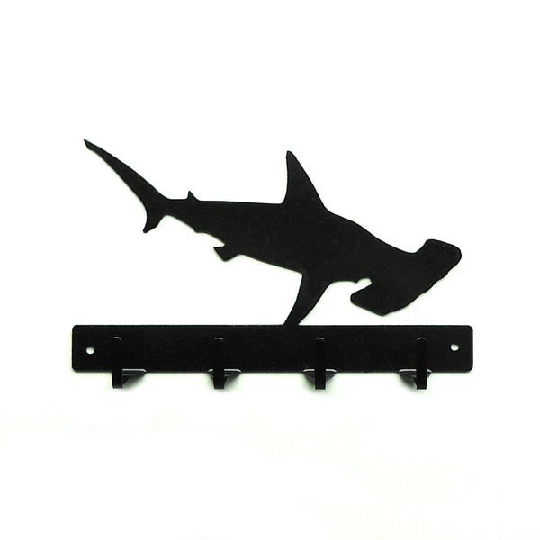Hammerhead Shark Key Rack - Knob Creek Metal Arts