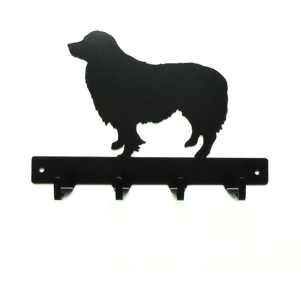 Border Collie Leash Rack - Knob Creek Metal Arts
