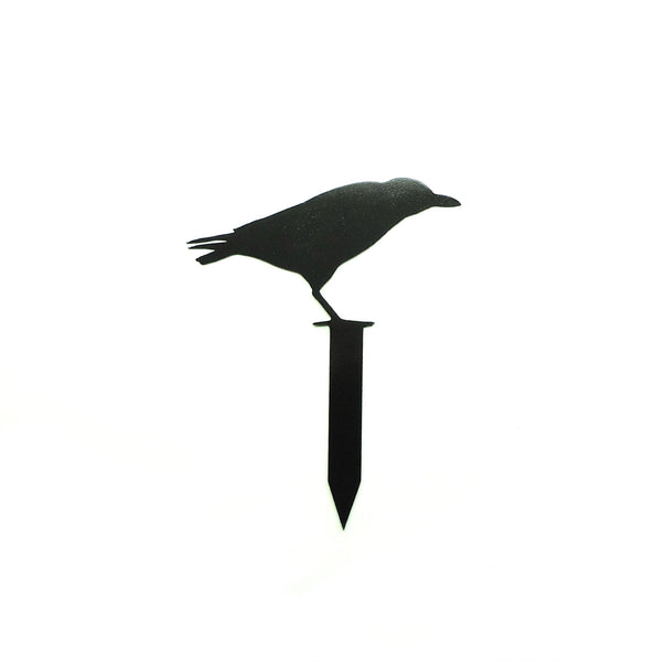 Black Raven Yard Stake - Knob Creek Metal Arts