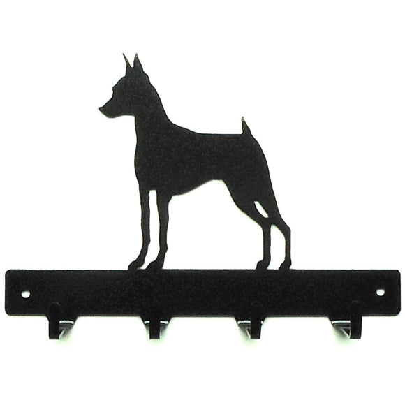 Miniature Pinscher Leash Rack - Knob Creek Metal Arts
