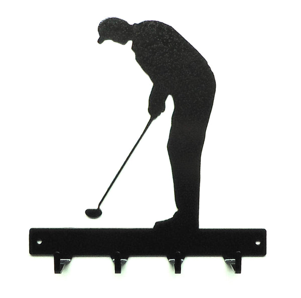 Golfer Key Rack - Knob Creek Metal Arts