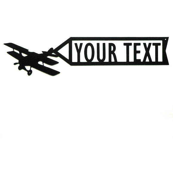 Personalized Airplane Banner Sign - Knob Creek Metal Arts