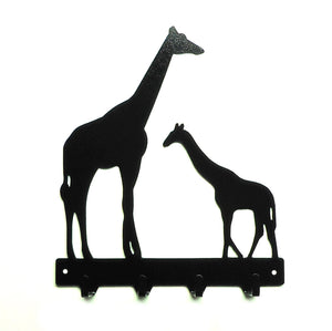 Giraffe Family Key Rack - Knob Creek Metal Arts