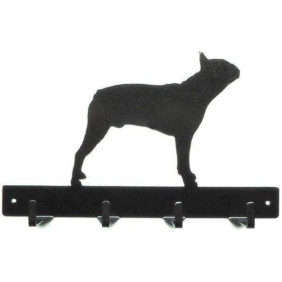 Boston Terrier Leash Rack - Knob Creek Metal Arts