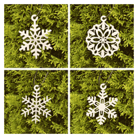 Christmas Blizzard Ornament Set (Set of 4) - Knob Creek Metal Arts
