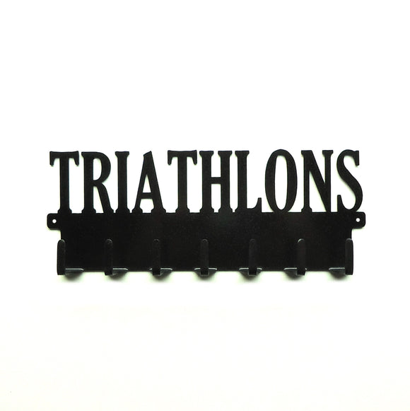 Triathlons Medals Rack - Knob Creek Metal Arts