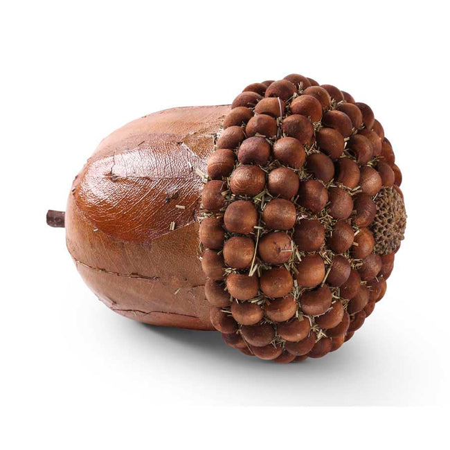 Brown Acorn with Wood Bead Top